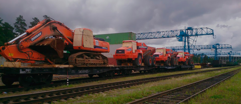 Transshipment of Mining equipment with total weight of 130t at the Terminal Shuvakish
